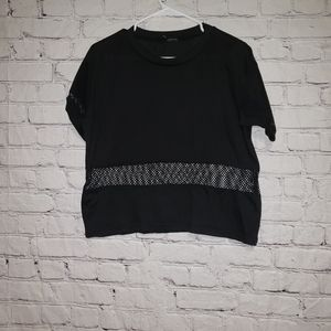 Brandy Melville Mesh Panel Crop Top